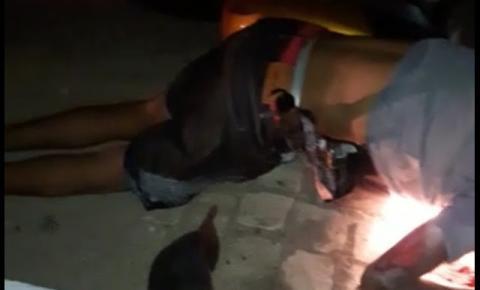 Três feridos vítimas de colisão entre motos no Junco de Jacobina