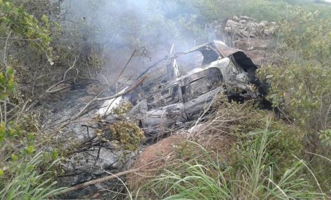 Identificadas as vítimas do acidente na região do Morro do Chapéu que deixou 3 mortos e dois feridos