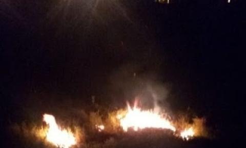 Objeto não identificado provoca incêndio e assusta moradores do município de Varzedo