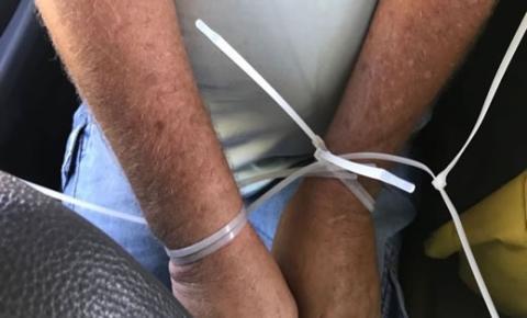 Caminhoneiro sequestrado em Capim Grosso, foi deixado amarrado em Ponto Novo