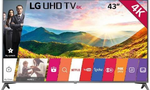 Smart TV 43 LG Ultra HD 4K - R$ 1.844,91 à vista (-10%)  ou em até R$ 12x de 170,83  R$ 2.049,90 a prazo