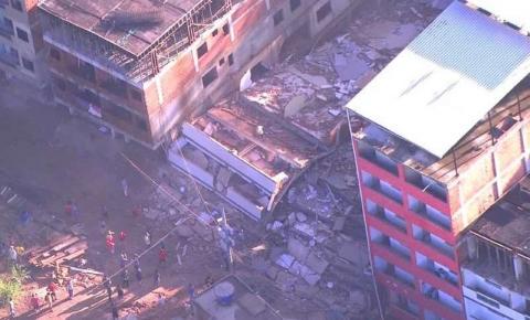 Dois prédios desabam na zona oeste do Rio de Janeiro