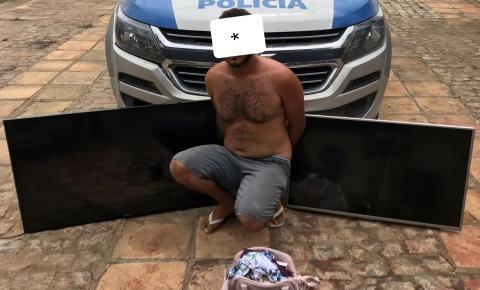 OPERAÇÃO CONJUNTA PRENDE AUTOR DE VÁRIOS FURTOS EM MAIRI