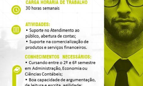 SICOOB - Vaga de estágio em Miguel Calmon/Ba