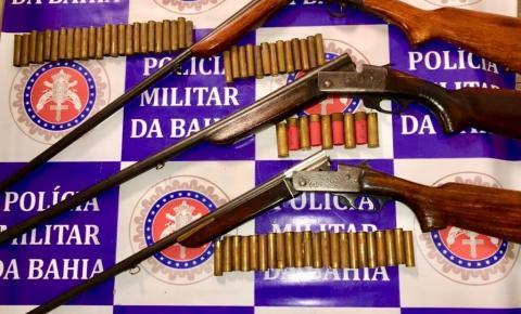 Policiais apreendem quatro armas de fogo em Paulo Afonso