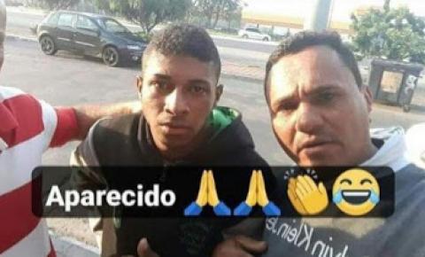 Jovem que estava desaparecido em São Paulo é encontrado por conterrâneos