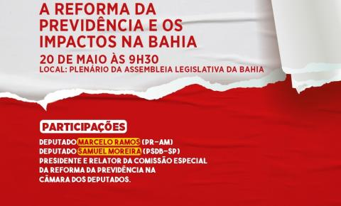 Reforma da Previdência será tema de Sessão Especial na Alba