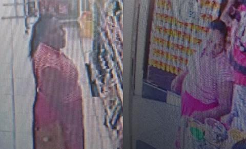 Câmera de segurança flagra mulher furtando leite e escondendo na calcinha em Jacobina