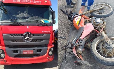 Motorista de caminhão é preso suspeito de provocar acidente com vítima fatal na BR 324 próximo a Paraíso