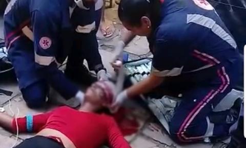 Mulher tem cabeça arremessada contra o chão durante briga na Feira Livre de Jacobina