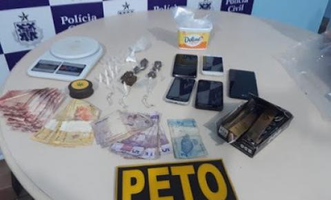 Operação conjunta cumpre mandado de prisão e tira drogas de circulação em Mairi