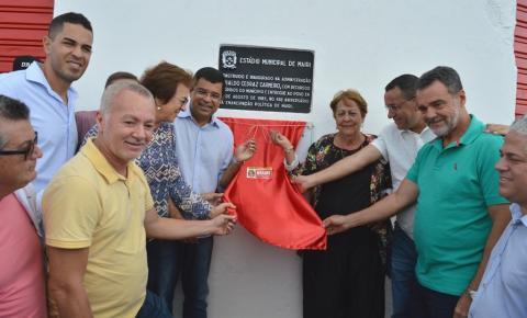 Prefeitura de Mairi inaugura grama sintética do Estádio Municipal Carlos Afonso Nunes Sena