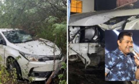Batista Lima, ex-limão com mel sofre acidente de carro com esposa