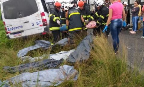 Acidente grave na estrada Feira-São Gonçalo deixa oito pessoas mortas