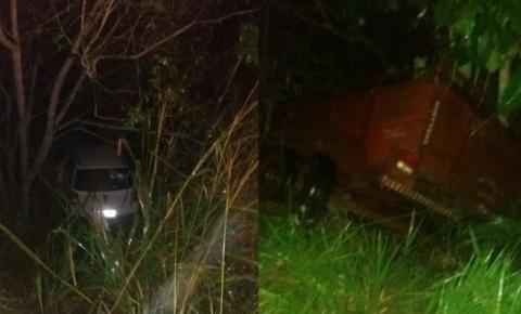 Veículo atinge reboque e cai em ribanceira entre Mirangaba e Jacobina