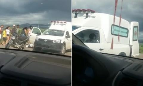 Gestante passa mal e cai de moto em Jacobina; acidente gerou fake news