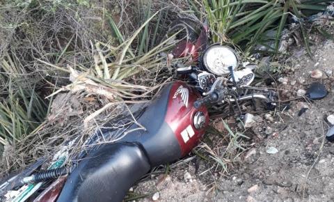 Homem morre em acidente de moto próximo a Capim Grosso