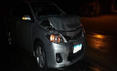 Condutor de Corolla colide na traseira de Celta no Ramal de Quixabeira