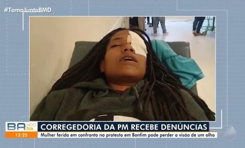 Jovem atingida no olho por bala de borracha durante confronto entre PMs e 'espadeiros' na Bahia e pode perder visão