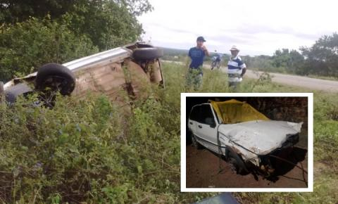 Vereador de Pintadas sofre acidente de carro na BA-414 que liga Pintadas a Ipirá