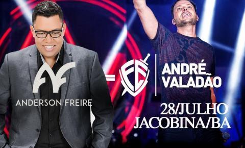 Parada Gospel com André Valadão e Anderson Freire abrirá festejos do aniversário de Jacobina