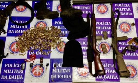 PM desarticula quadrilha de assaltantes, apreende armas e recupera veículos roubados na Bahia