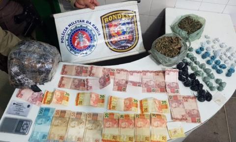 Rondesp Oeste captura traficantes com quantia em dinheiro