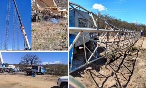 Queda de torre de transmissão mata dois operários em Caetité-BA