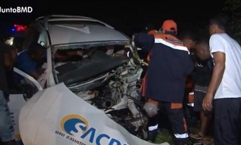 Morre segunda vítima do acidente deste domingo na BR-324 em Tanquinho