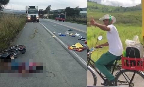 Pagador de promessa que seguia de bicicleta para Bom Jesus da Lapa morre atropelado na BA-263, em Itapetinga na Bahia.