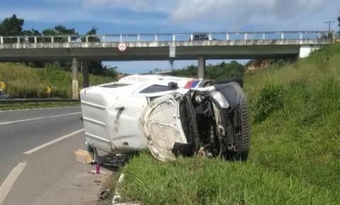 Homem morre após ambulância de Miguel Calmon se envolver em acidente