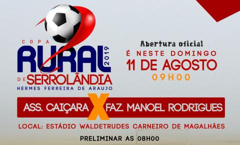 Copa Rural de Serrolândia começa no próximo domingo 11 de agosto
