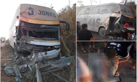 Vídeo: Acidente com ônibus de Jonas Esticado deixa três feridos na BR-226, no Maranhão
