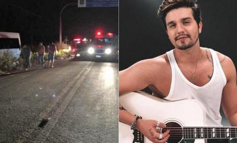 Luan Santana e equipe se envolvem em acidente na estrada