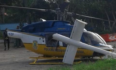 Helicóptero da PRF colide ao tentar pousar no interior da Bahia