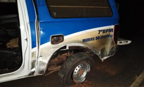 Viatura da PM se envolve em acidente; militares são levados ao hospital na Bahia