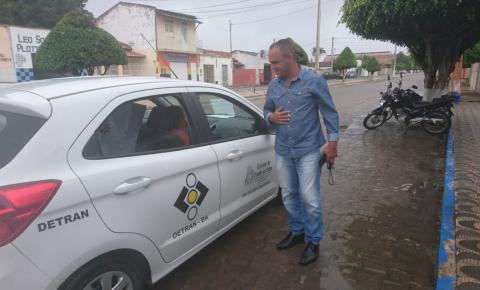 Detran realiza mapeamento do trânsito da cidade em Serrolândia para sinalização