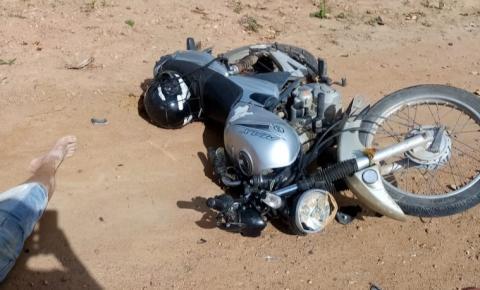 Homem sofre acidente de moto na BA-417 em Serrolândia