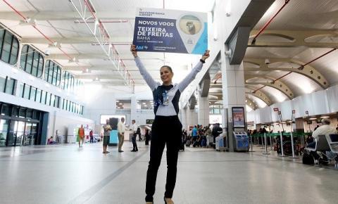 Novos voos ligam Salvador a Teixeira de Freitas e a Maceió
