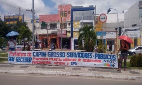 SINSP realiza manifestação contra a Prefeitura de Capim Grosso