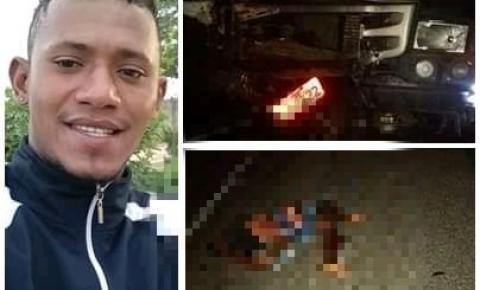 Jovem morre em grave acidente na BR-407 próximo a Capim Grosso