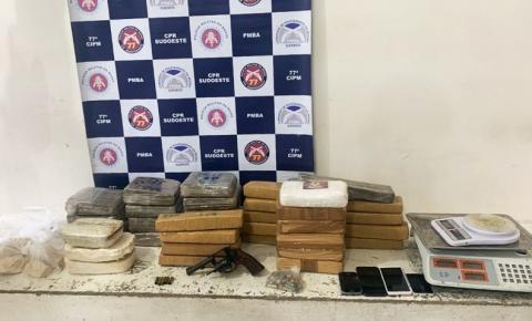 Quarenta quilos de cocaína, maconha e crack são apreendidos no interior da Bahia