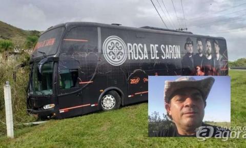 Romeiro morre atropelado por ônibus da banda Rosa de Saron na SP-060
