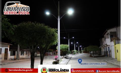 Bairro Contornolândia ganha iluminação com lâmpadas de led
