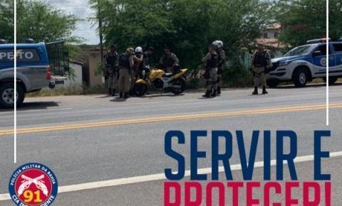 Polícia Militar captura estelionatário na BR-324