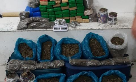 Homem é preso com cerca de 100 kg de drogas em casa no sudoeste da BA