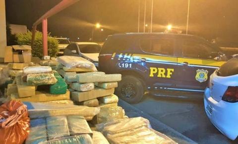 PRF apreende 200 kg de maconha após perseguição em Vitória da Conquista