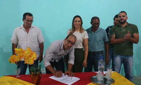 Prefeito de Serrolândia assina Ordem de Serviço para reforma e ampliação da Creche em Maracujá