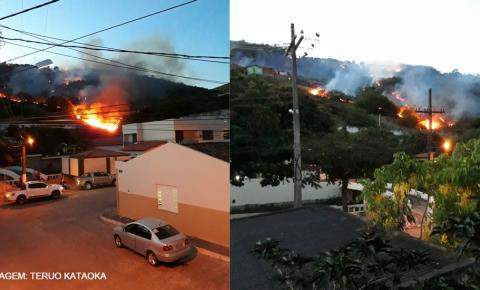 Incêndio na Serra do Leader, em Jacobina causa pânico em moradores