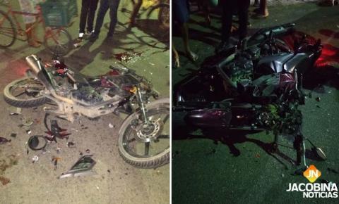 Três pessoas ficam feridas em grave acidente com duas motos em Jacobina